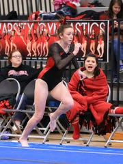 Mikhaela Hille of Livonia Red performs during regionals.