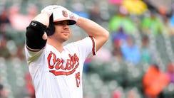 Chris Davis, the Orioles first baseman, is batting
