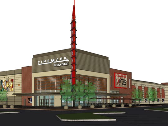 A rendering of the new theater at Christiana Mall.