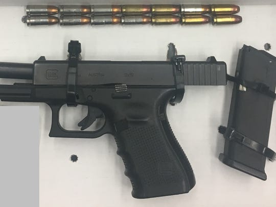 Port Authority police found a loaded Glock-19 with