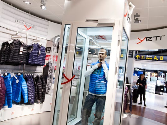 Copenhagen Airport_Yeti Pop-Up Shop allows travelers to try on clothes in cold temperatures. Courtesy