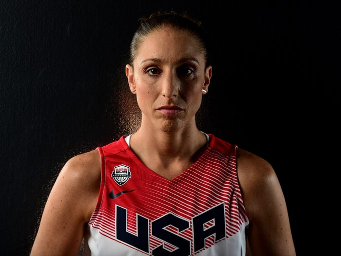 Diana Taurasi poses for a portrait at the USOC Rio