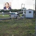 Christopher John Hall of Satellite Beach was arrested at  Melbourne International Airport. Police say he attempted to taxi off a runway before running into a ditch and striking a satellite dish with his airplane.