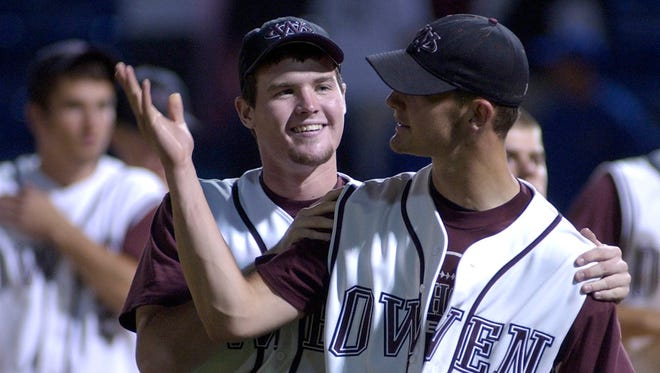 Owen graduate Steven Hensley, right, now pitches in the Baltimore Orioles organization.