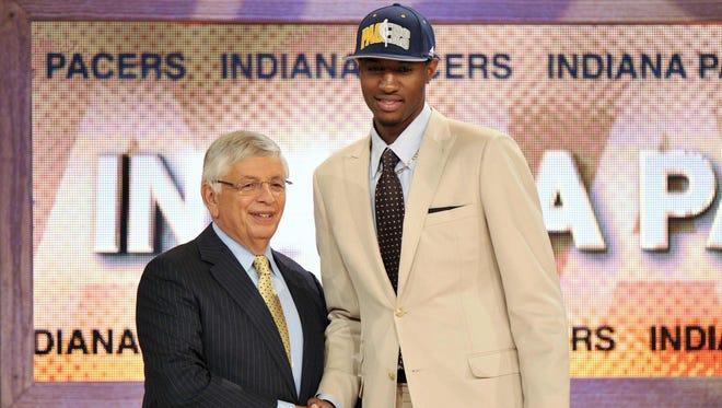 Paul George at the NBA Draft.