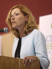 State Health and Social Services Secretary Rita Landgraf speaks at an event in Wilmington on Sept. 3, 2013. She said former lawmaker Michael Barbieri was not given preference for political reasons when he was hired to lead the Division of Substance Abuse and Mental Health.