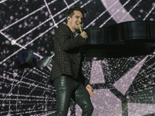 Brendon Urie from Panic! at the Disco will headline a FedExForum concert on Wednesday.