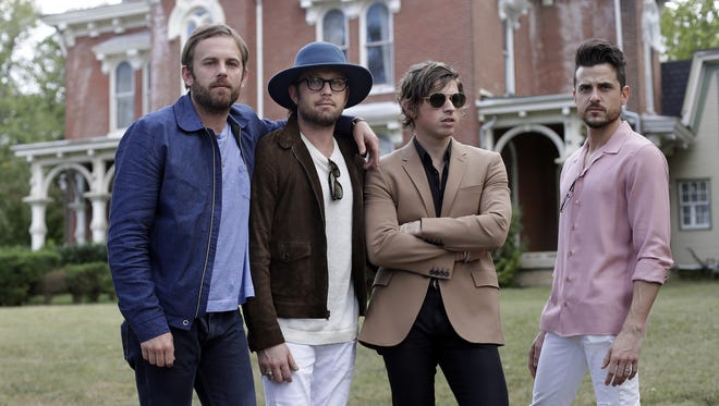 Kings of Leon will perform Aug. 19 at Klipsch Music Center.