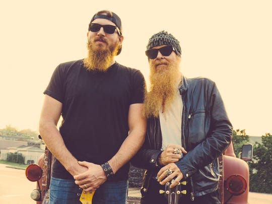 Tim Montana, left, of Shrednecks and Billy Gibbons of ZZ Top are co-writers of 'This Beard Came Here to Party'.