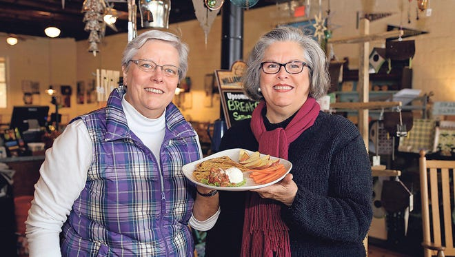 Besides the rueben and pecan chicken salad, The Cafe at Williams Hardware, owned by sisters Joyce and Nancy McCarrell, offers options such as a grilled-cheese quesadilla.