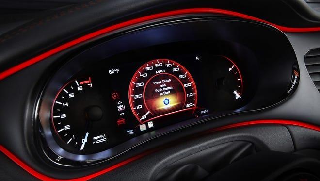 2013 Dodge Dart, speedometer shot. Credit: Dodge.