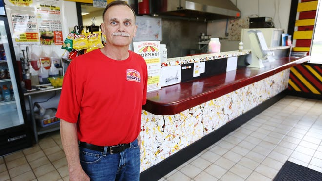 Bob McConnell often gives to the surrounding communities, and in 2015, he used his business, McConnell's Hots, to help feed someone who may not have enough money to buy a hot dog, drink or other items.   Hots, an Elmira hot dog joint, offers a pay-it-forward program for customers to purchase menu items to be given to those in need. The eatery is located at 1138 Lake St.