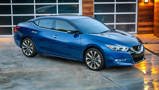 The 2016 Nissan Maxima is a winner on style, with its distinctive lines and grille.