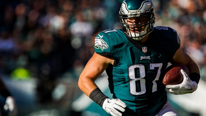 Eagles tight end Brent Celek has been with the Eagles since 2007. Only long snapper Jon Dorenbos has been with them longer.
