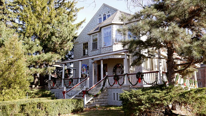 A look at the Christmas decorations outside the historic Galloway-Knapp house at the corner of Park and Sheboygan streets in Fond du Lac. The house is open for tours from 4 to 6 p.m. Friday and Saturday.
