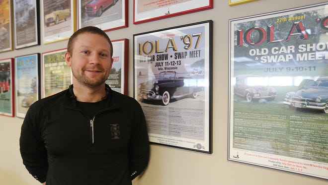 PR and marketing director for the Iola Old Car Show Joe Opperman, Thursday, Feb. 18, 2016.