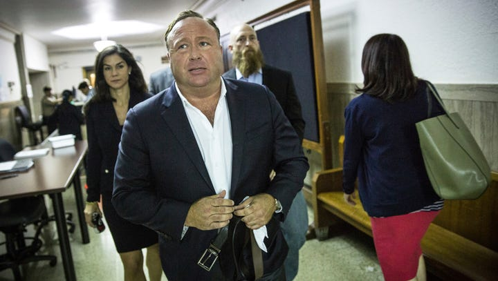 Conspiracy theorist Alex Jones destroyed evidence, court motion claims