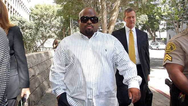 Entertainer Cee Lo Green leaves Los Angeles Superior Court after a hearing Friday, Aug. 29, 2014.