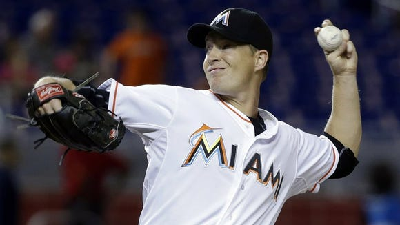 Roberson graduate Chris Narveson is a left-handed pitcher for the Miami Marlins.
