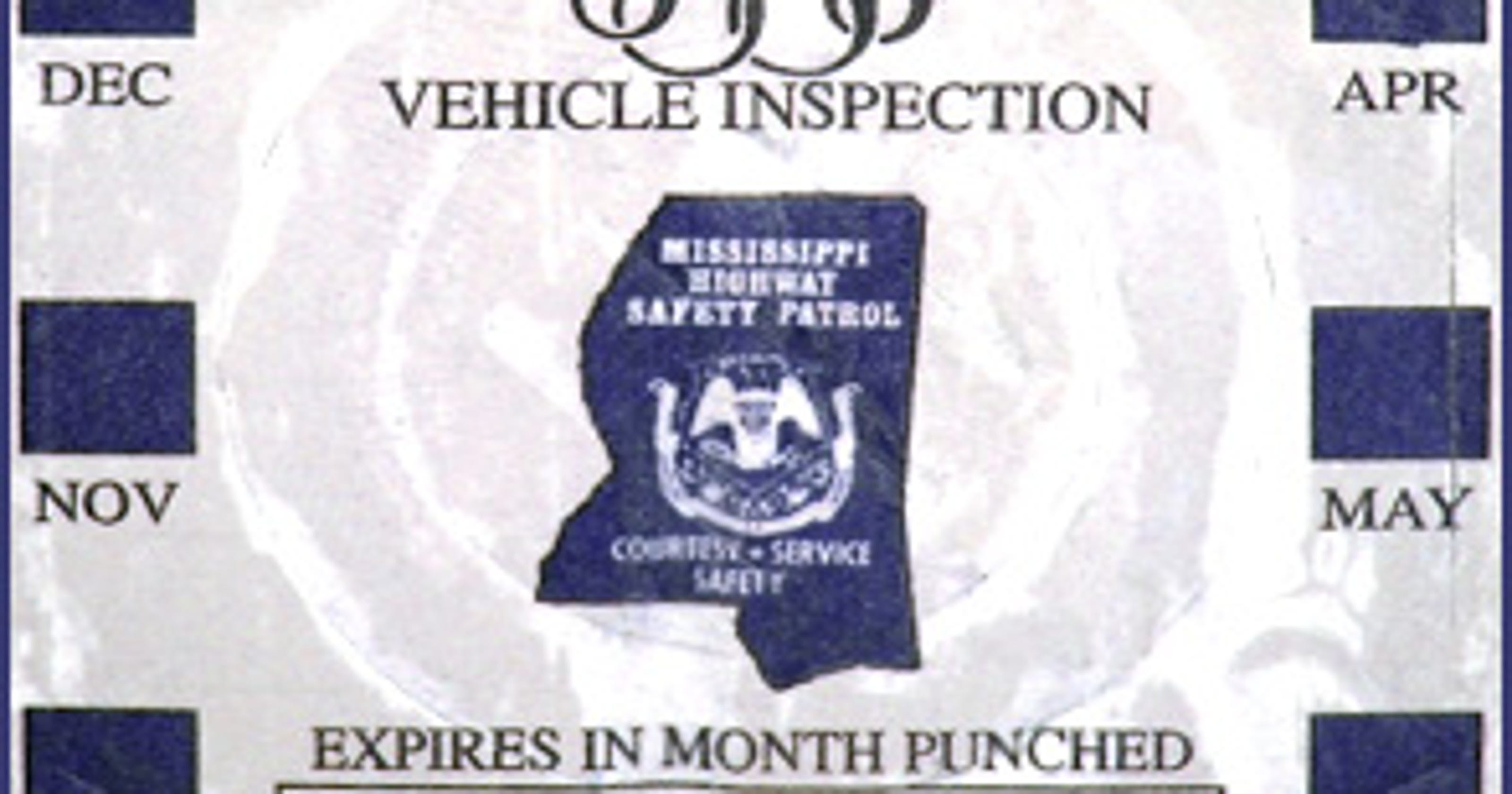 Bye-bye, vehicle inspection stickers