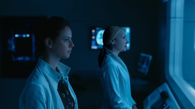 """Teresa (Kaya Scodelario) and Ava Paige (Patricia Clarkson) star in """"Maze Runner: The Death Cure."""""""