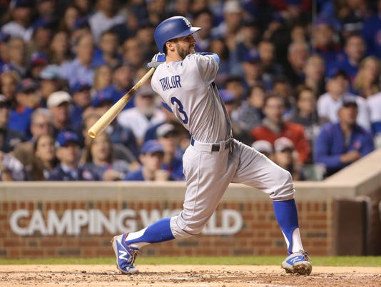 USP MLB: NLCS-LOS ANGELES DODGERS AT CHICAGO CUBS S BBN CHC LAD USA IL