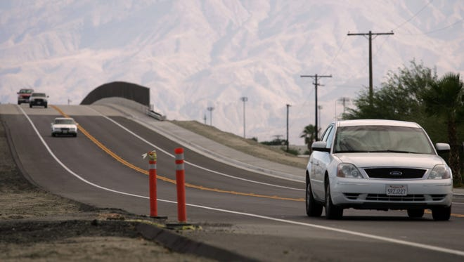 Looking South on Golf Center Parkway in Indio, Wednesday, May 26, 2010.  (Richard Lui The Desert Sun)
