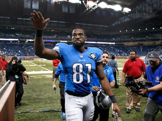 In this Nov. 9, 2014 photo, Detroit Lions wide receiver