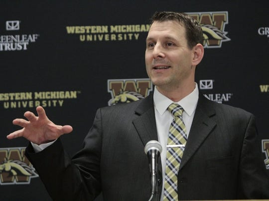 Western Michigan football coach Tim Lester.