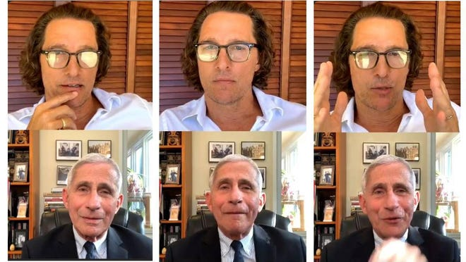 Austin actor Matthew McConaughey hosted White House coronavirus expert Dr. Anthony Fauci for an Instagram Live chat on Thursday, seeking science and certainty.