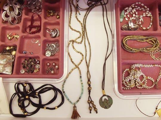 Accessories from inside Jill's closet.
