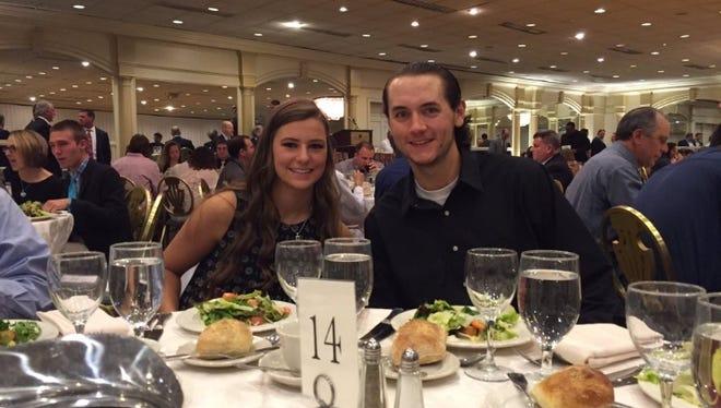 Sam Mehalick (L) and Eric Reardon were honored as North Brunswick High School's GMC sportsmanship award winners