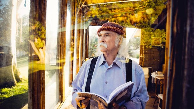 David Crosby will bring a  lifetime of music to the Scottish Rite Theatre in Collingswood on Tuesday.