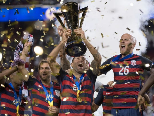 USP SOCCER: 2017 CONCACAF GOLD CUP -USA  AT JAMAIC S SOC USA CA