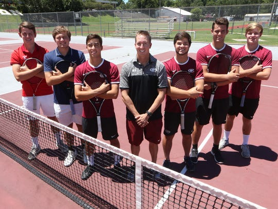 The 2017 All-Big Bend boys tennis first team. From