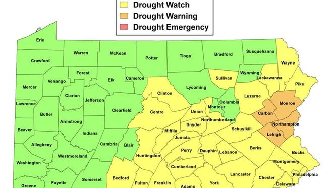 Half of Pennsylvania is nearing drought as of Nov. 3, 2016.