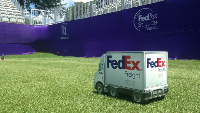 The FedEx St. Jude Classic. in Memphis features unique tee markers