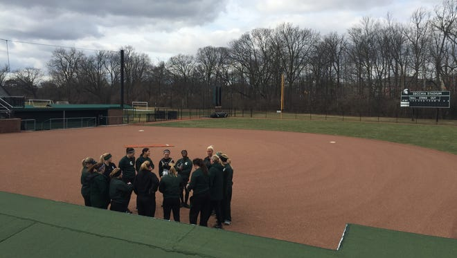 The USA Softball national team will play a doubleheader on June 10, 2020 at Secchia Stadium at Michigan State University as part of its warm-up tour of games for the Tokyo Olympics.