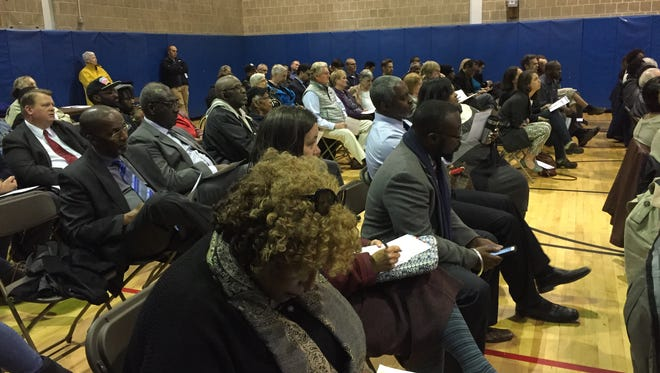 Tuesday's Rochester-Monroe Anti-Poverty Initiative town hall meeting at the Adams Street Recreation Center