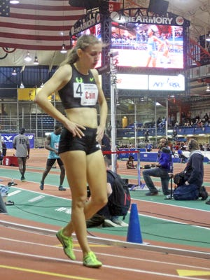 Bronxville native Mary Cain, pictured here at the Armory Track Invitational back in 2015, finished 11th in women's 1500-meter final at Olympic Trials.