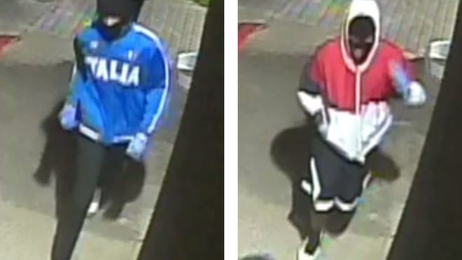 Austin police on Thursday said they are asking the public's help in finding two men in connection with a robbery at an East Austin gas station in May.