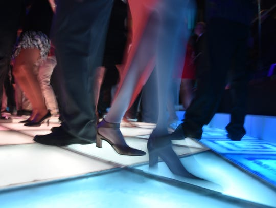 Dancers' feet are constantly moving on the floor at Adelphia Restaurant in Deptford at Bob Pantano's Dance Party. Many types of dance include human touch.