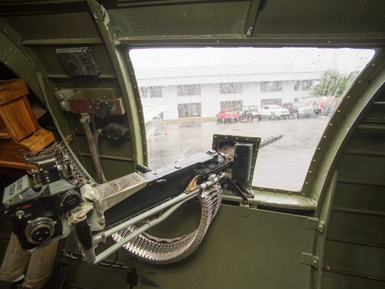 Inside the B-17 bomber Aluminum Overcast, one of the few airworthy B-17s in the world.