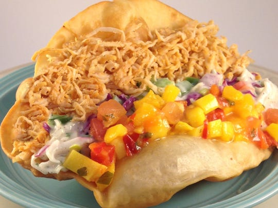 Not Your Mamma's Tacos feature turkey, a homemade veggie slaw and a sweet mango salsa.