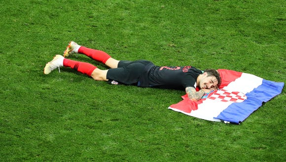 Croatia's celebration was fantastic.