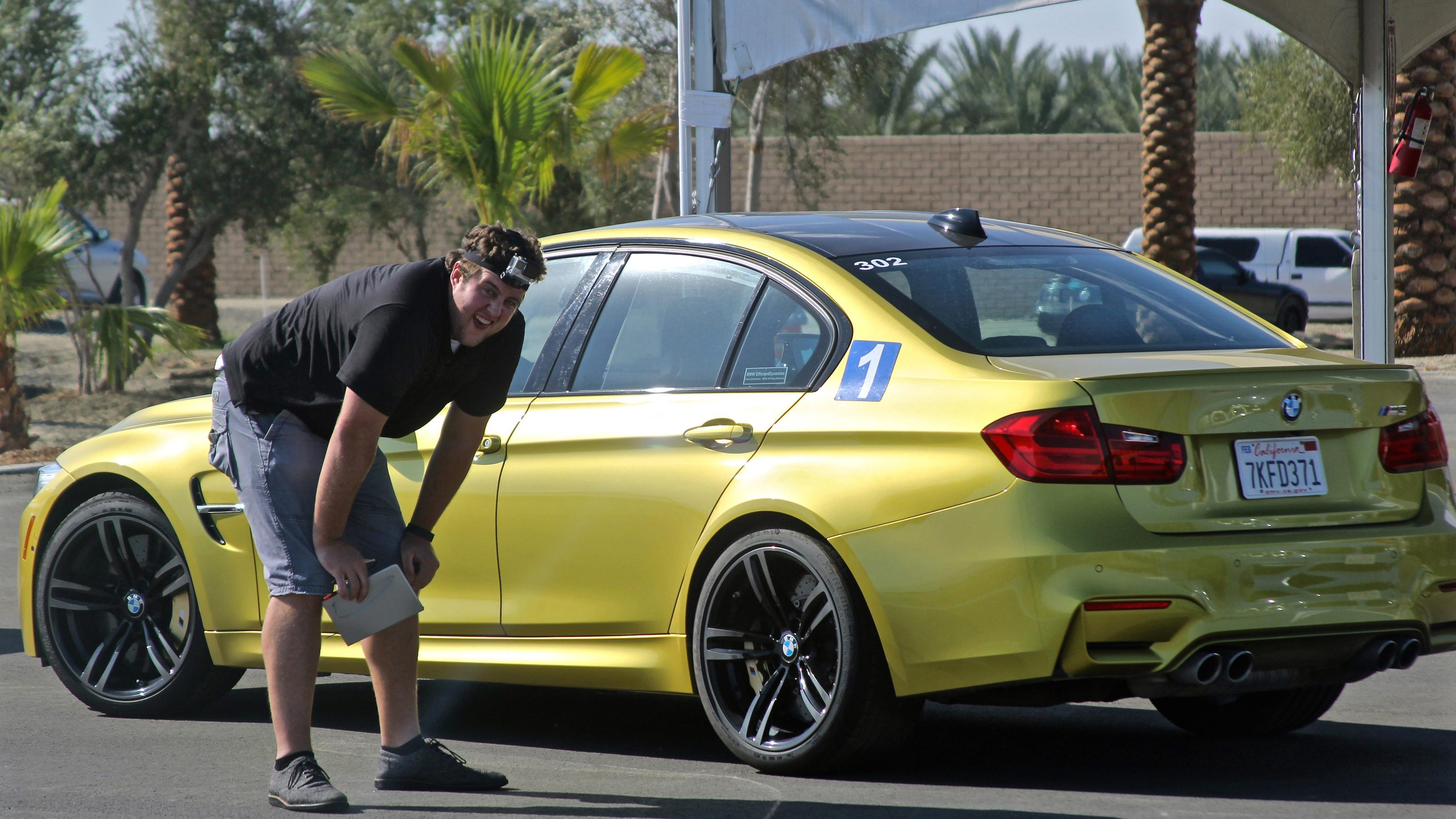 Drivers drift and speed at Thermal s BMW Performance Center