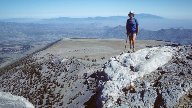 Undated photo of Marge Sill on Mt. Moriah in White Pine County.