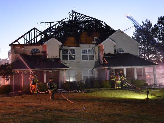 A fire heavily damaged an apartment building on Bennington