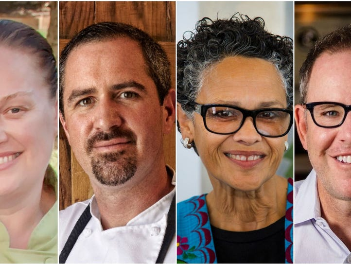 From left to right are James Beard Award semifinalists