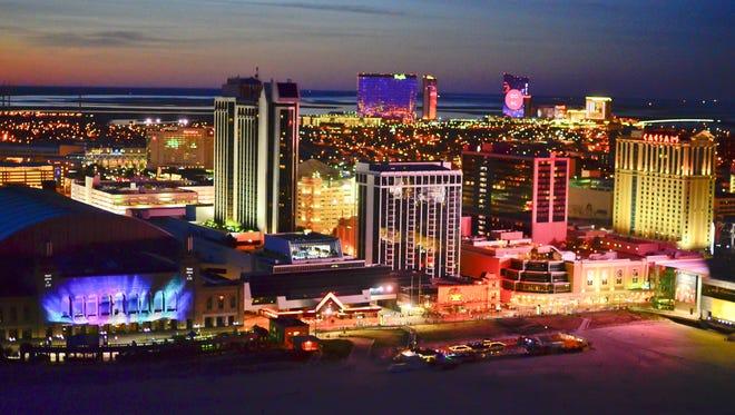 Aerial view of Atlantic City.